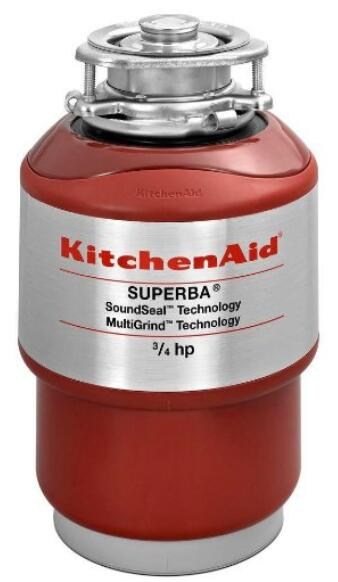 KitchenAid KCDS075T 3 4 HP Continuous Feed Garbage Disposal 84s240