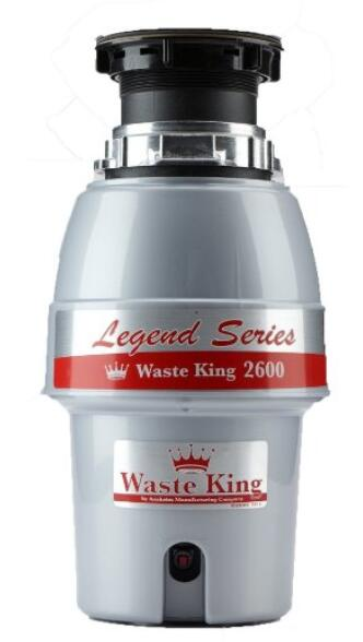 Waste King L-2600 Legend Series 1 2 HP Continuous Feed Operation Garbage Disposal 2.3q80