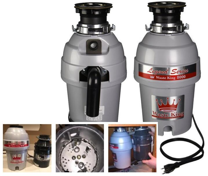 Waste King L-8000 Legend Series 1.0-Horsepower Continuous-Feed Garbage Disposal 4.6q123