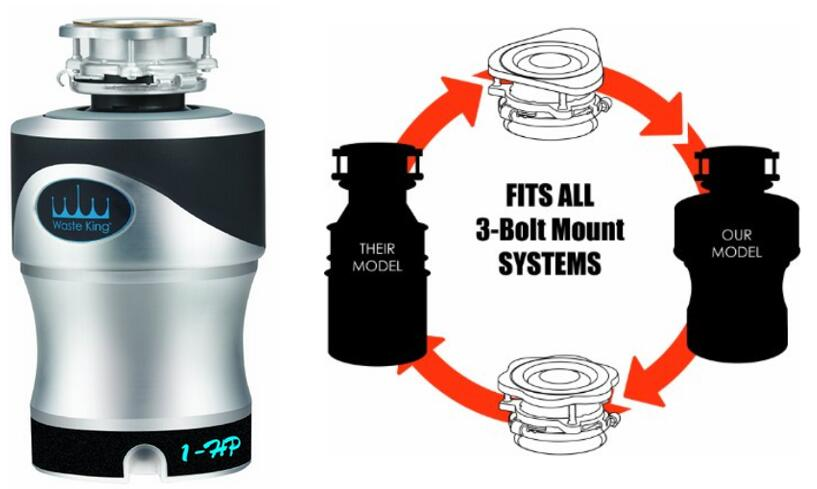 Waste King A1spc Knight 1 0 Horse Garbage Disposal