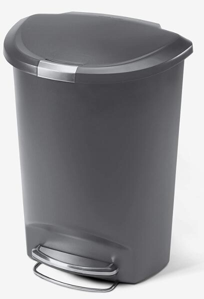 13 gallon semi round kitchen step trash can