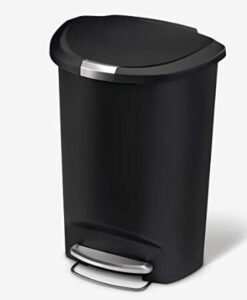 best sale Simplehuman 13 gallon step trash can with semi-round design