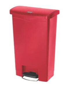 13 gallon red kitchen trash can