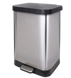 Glad cheap 13 gallon step on trash can for kitchen