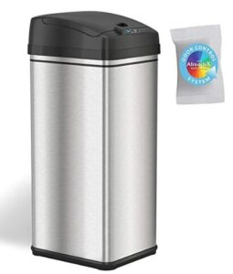 iTouchless 13 gallon stainless steel trash can with auto lid