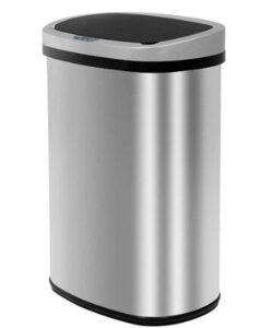 13 gallon metal kitchen trash can with sensor