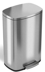 touchless trash can 13 gallon stainless steel