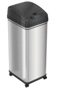 stainless steel kitchen garbage can 13 gallon with wheels