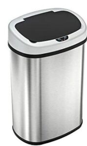 oval 13 gallon motion sensor trash can with lid