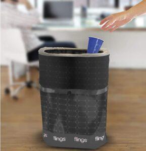 PE pop up trash cans