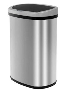 bestoffice touch free sensor stainless steel trash can 13.2 gallon