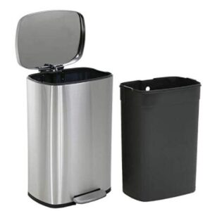 quiet 13 gallon trash can with detachable inner
