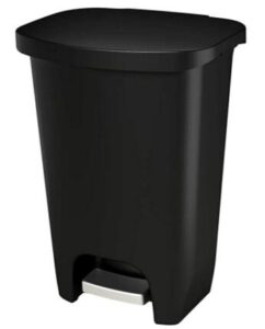 13 gallon plastic step trash can for office