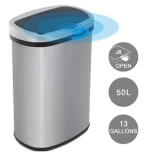 sensor 13 gallon trash can for office