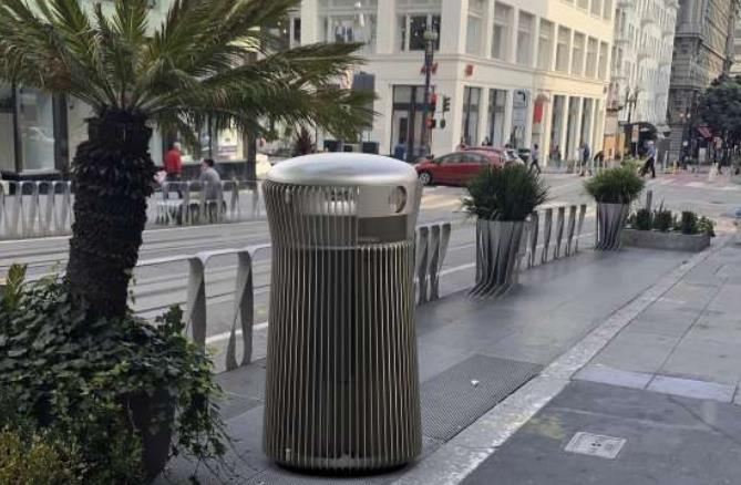 13 gallon stainless steel trash can for city