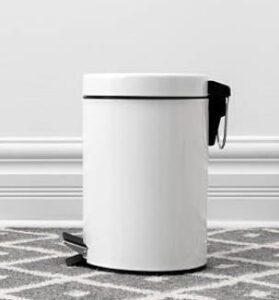 20 gallon white trash can for kitchen