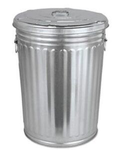20 gallon metal food grade garbage can with locking lid
