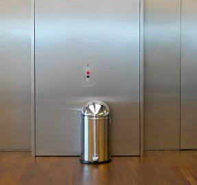 20 gallon stainless steel garbage bin with round top