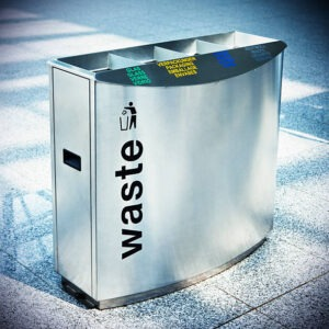 30 gallon metal garbage can for recycling