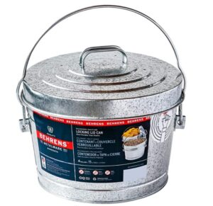 4 gallon trash can with locking lid for kitchen