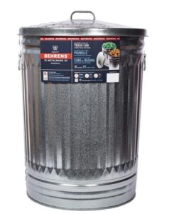 30 gallon metal trash can for kitchen