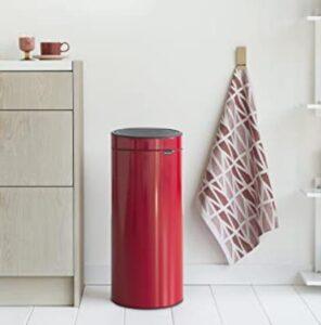 Brabanita 8 gallon slim garbage can with lid