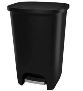 GLAD 20 gallon black garbage bin with lid