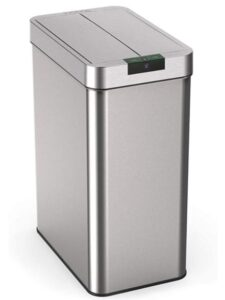 20 gallon stainless steel trash can with butterfly lid