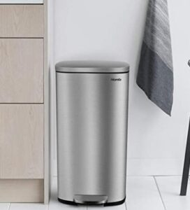 Homfa 8 gallon trash can with removable liners