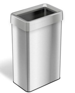 20 gallon open top trash can made from stainless steel