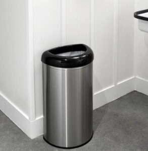 NINESTARS stainless steel open up trash can with 13 gallon capacity