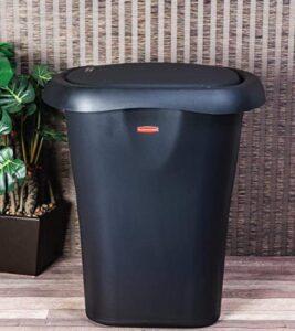Rubbermaid 8 gallon plastic black garbage bin