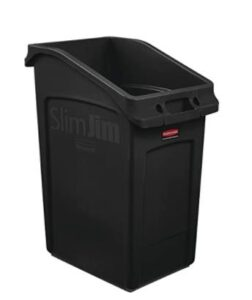 23 gallon plastic black garbage can