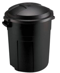 Rubbermaid Roughneck round trash can with 20 gallon capacity
