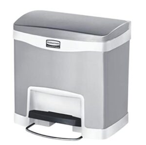 Rubbermaid stainless steel tarsh can with 4 gallon capacity