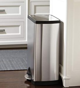 Simplehuman 10 gallon stainless steel garbage can