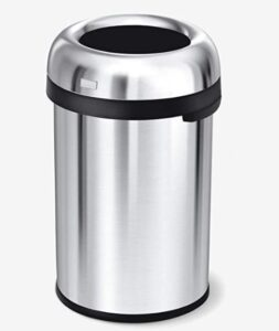 Simplehuman 30 gallon kitchen garbage can with open top