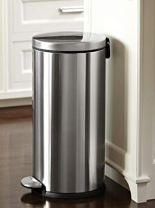 8 gallon garbage bin with foot pedal