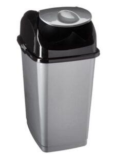 Superio swing top Compact slim trash bin with 4.5-gallon capacity