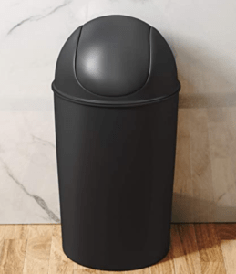 10 gallon plastic garbage can with swing lid