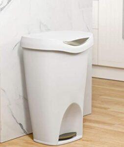 Umbra white plastic trash can