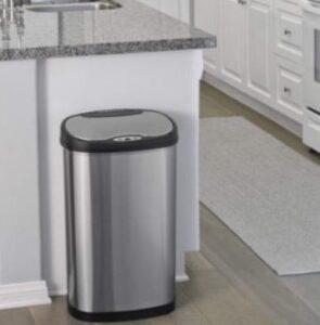 cheap 13 gallon stainless steel trash bin