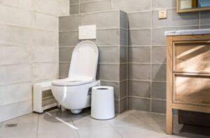 small bathroom trash can