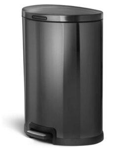 12 gallon semi round step garbage can
