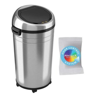 23 gallon stainless steel trash can with wheels