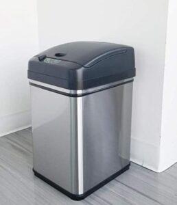 8 gallon pet proof stainless steel garbage bin