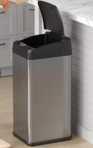 iTouchless cheap 13 gallon garbage can with black lid