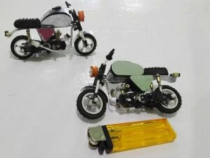 create motorbike toys with lighters