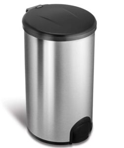 t12 gallon touchless garbage can with foot pedal