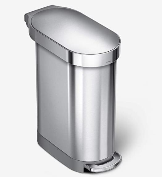 simplehuman stainless steel 12 galon trash can